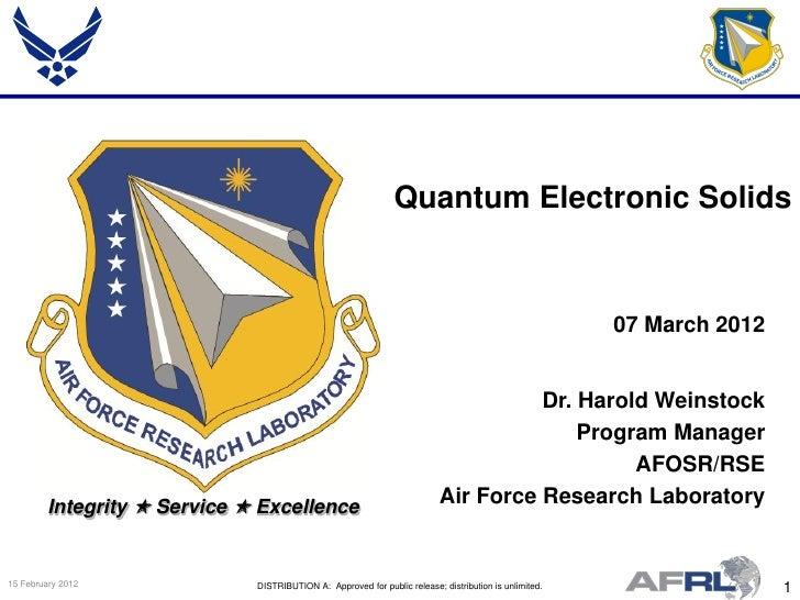 Quantum Electronic Solids                                                                                                 ...