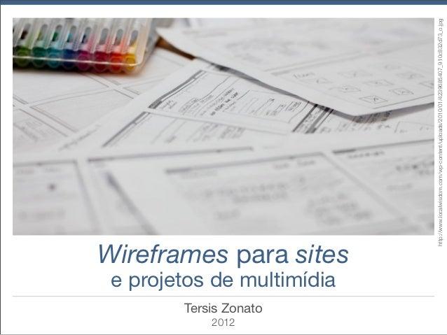 Wireframes para sites e projetos de multimídia