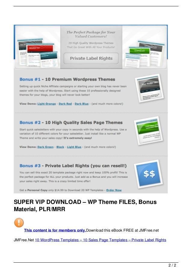 Enchanting Plr Wordpress Themes Motif - Examples Professional Resume ...