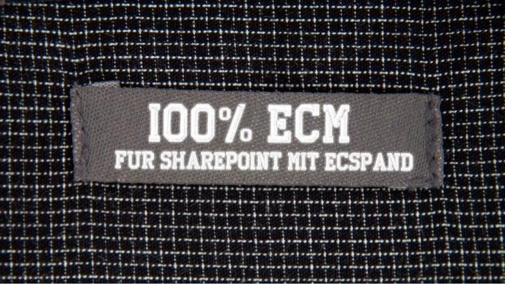 100% ECM für SharePoint mit ecspand