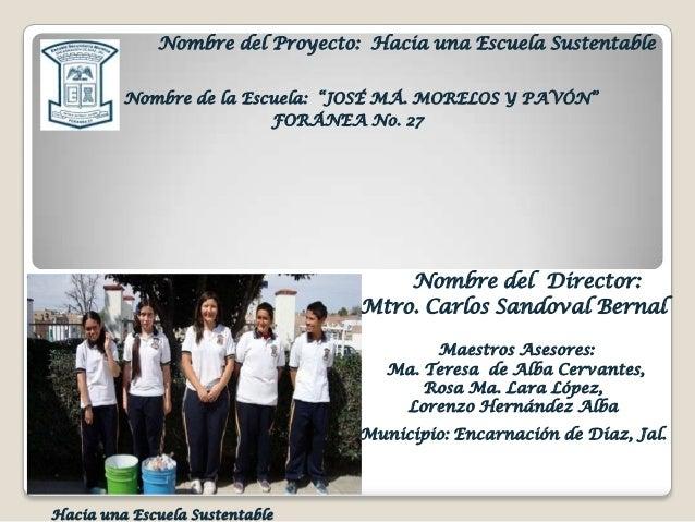 100. escuela sustentable