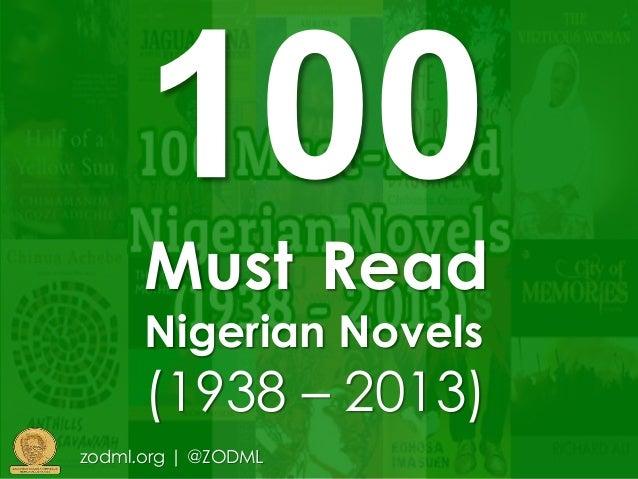 Must Read Nigerian Novels (1938 – 2013) zodml.org | @ZODML