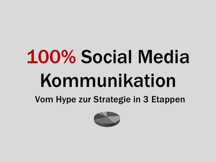 100% Social Media KommunikationVom Hype zur Strategie in 3 Etappen