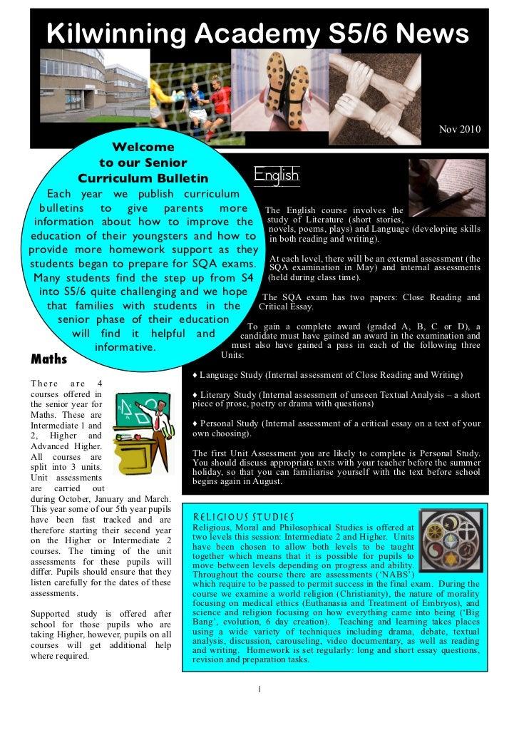 Kilwinning Academy S5/6 News                                                                                              ...