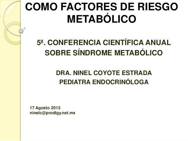 Niñez y adolescencia como factores de riesgo metabólico