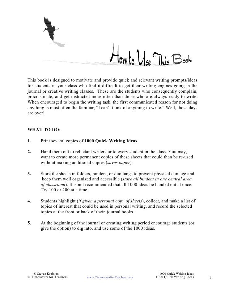 writing prompts for high school students High school writing prompts practice makes perfect, especially when it comes to essay writing below, find prompts to help you practice writing argumentative.