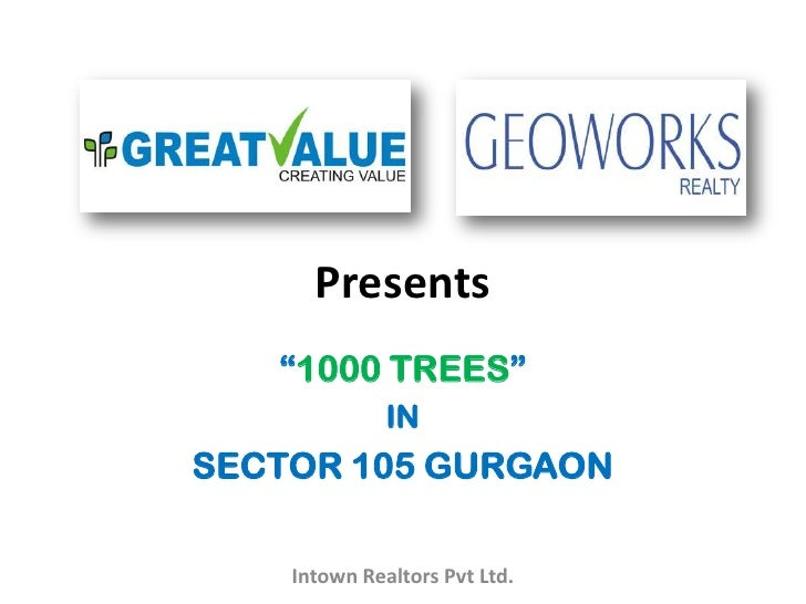 1000 trees gurgaon ppt