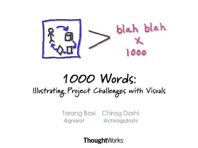 1000 Words:Illustrating Project Challenges with Visuals         Tarang Baxi   Chirag Doshi          @gnarat      @chiragsd...