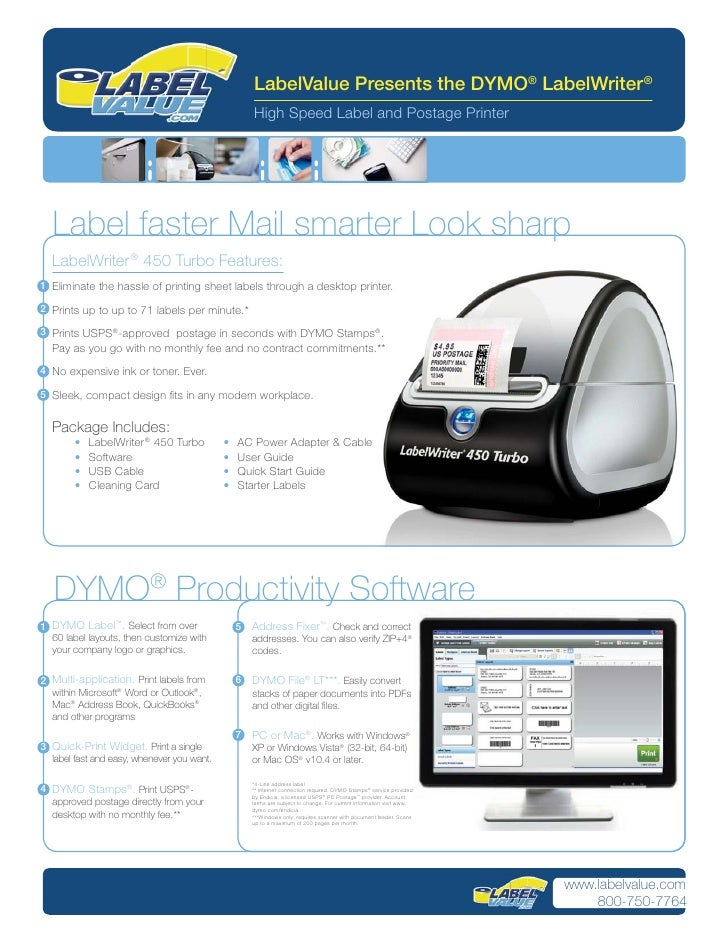 LabelValue Presents the DYMO® LabelWriter ®                                                     High Speed Label and Posta...