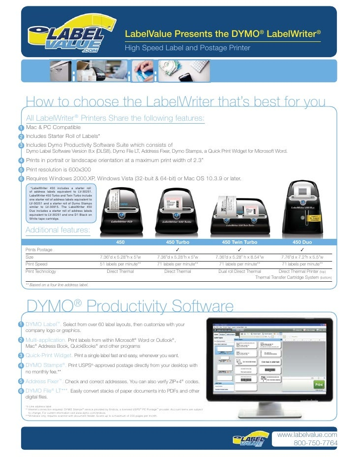 LabelValue Presents the DYMO® LabelWriter ®                                                                               ...