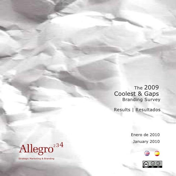 2009 Coolest&Gaps Branding Survey Results