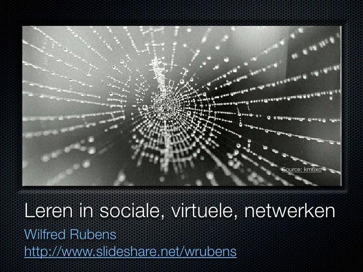 Leren in sociale, virtuele, netwerken