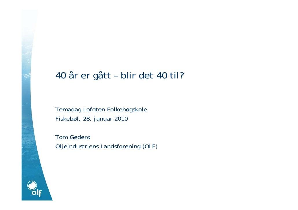 Presentasjon for Lofoten Folkehøgskole