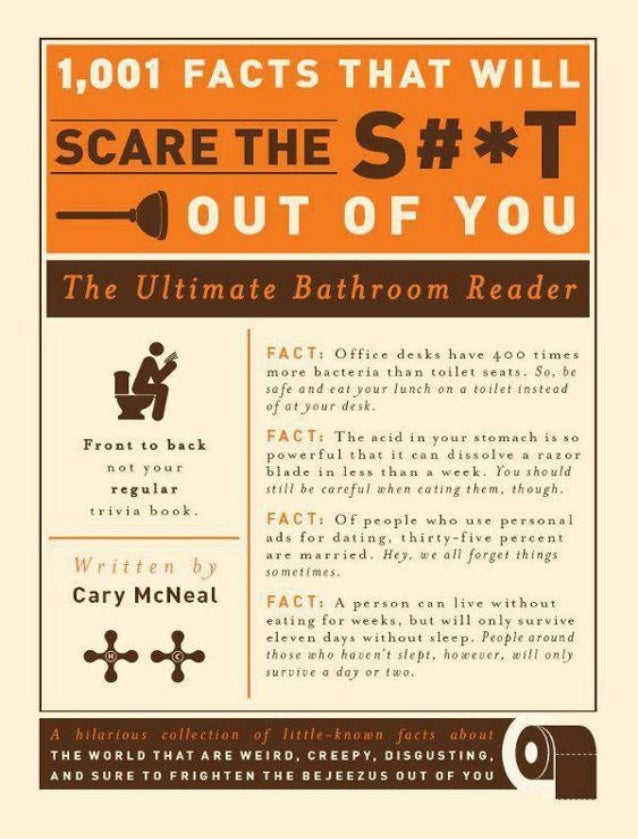 1,001 facts that will scare the s#t out of you the ultimate bathroom reader