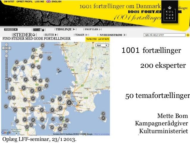 1001 Fortælling - Kommunikationsrådgiver Mette Bom, Kulturministeriet