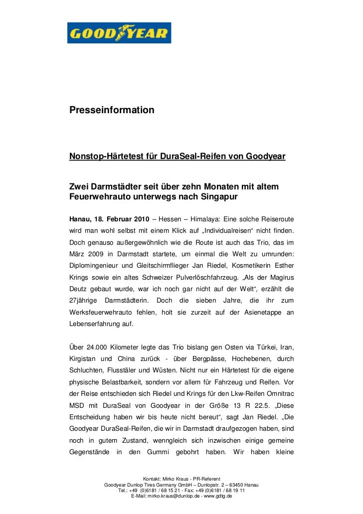 PresseinformationNonstop-Härtetest für DuraSeal-Reifen von GoodyearZwei Darmstädter seit über zehn Monaten mit altemFeuerw...