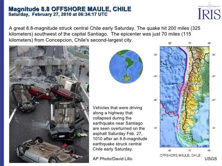 Magnitude 8.8 OFFSHORE MAULE, CHILE