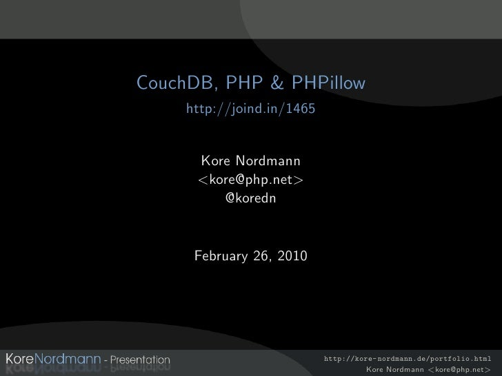 CouchDB, PHPillow & PHP