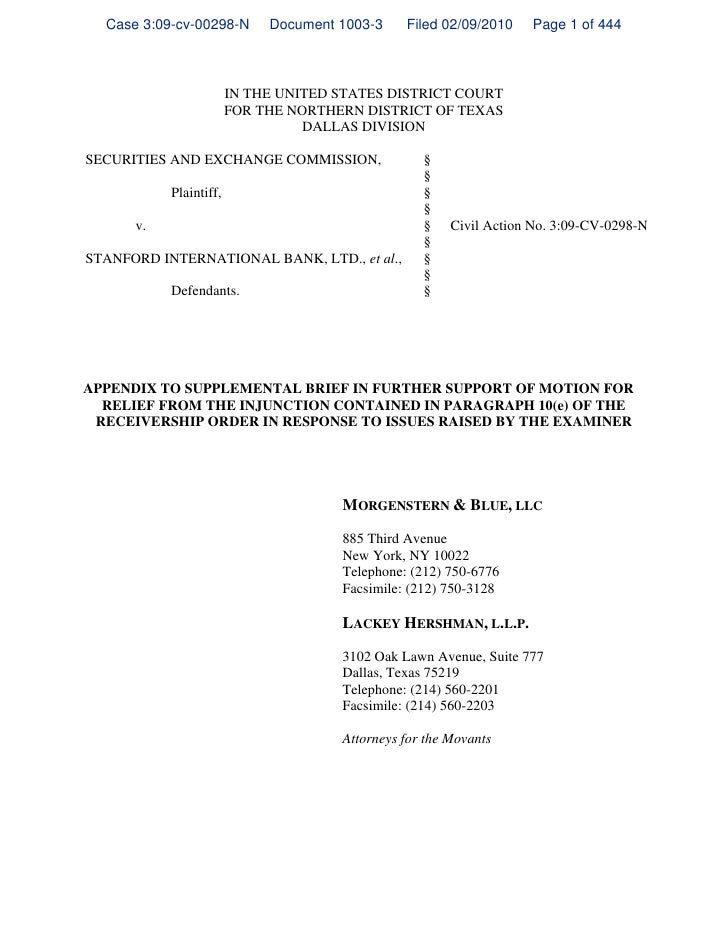 Case 3:09-cv-00298-N       Document 1003-3    Filed 02/09/2010    Page 1 of 444                        IN THE UNITED STATE...