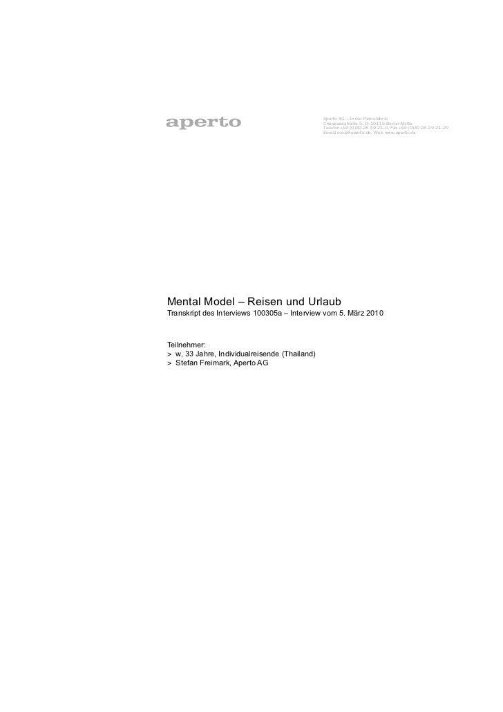 Aperto AG – In der Pianofabrik                                                Chausseestraße 5, D-10115 Berlin-Mitte      ...