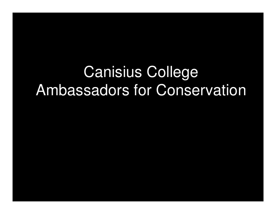 Canisius Callege Ambassadors for Conservation
