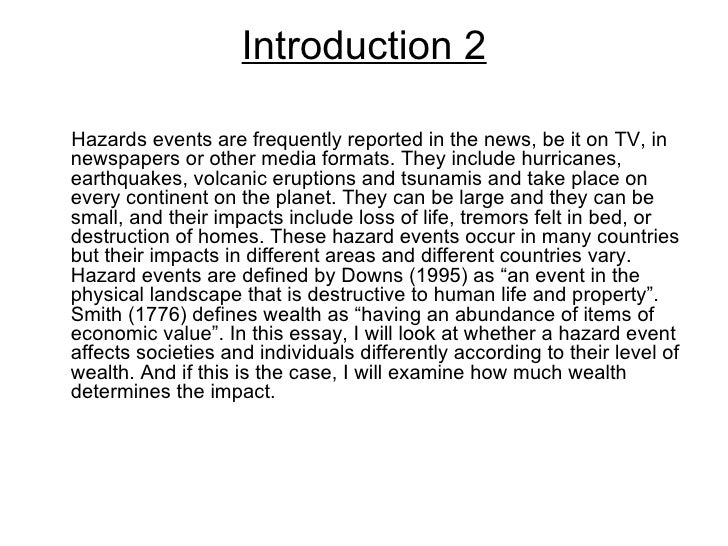 Essay on earth quake
