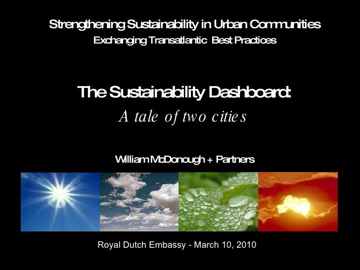 Strengthening Sustainability in Urban Communities Exchanging Transatlantic  Best Practices The Sustainability Dashboard: A...
