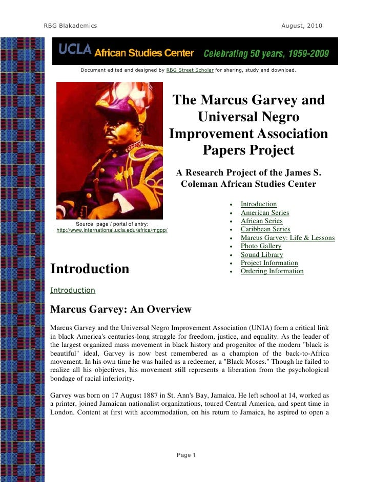 The Marcus Garvey and UNIA Papers Project-A UCLA African Studies Center Projects-Extracts