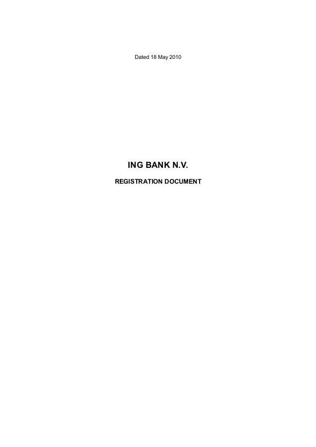 Dated 18 May 2010   ING BANK N.V.REGISTRATION DOCUMENT