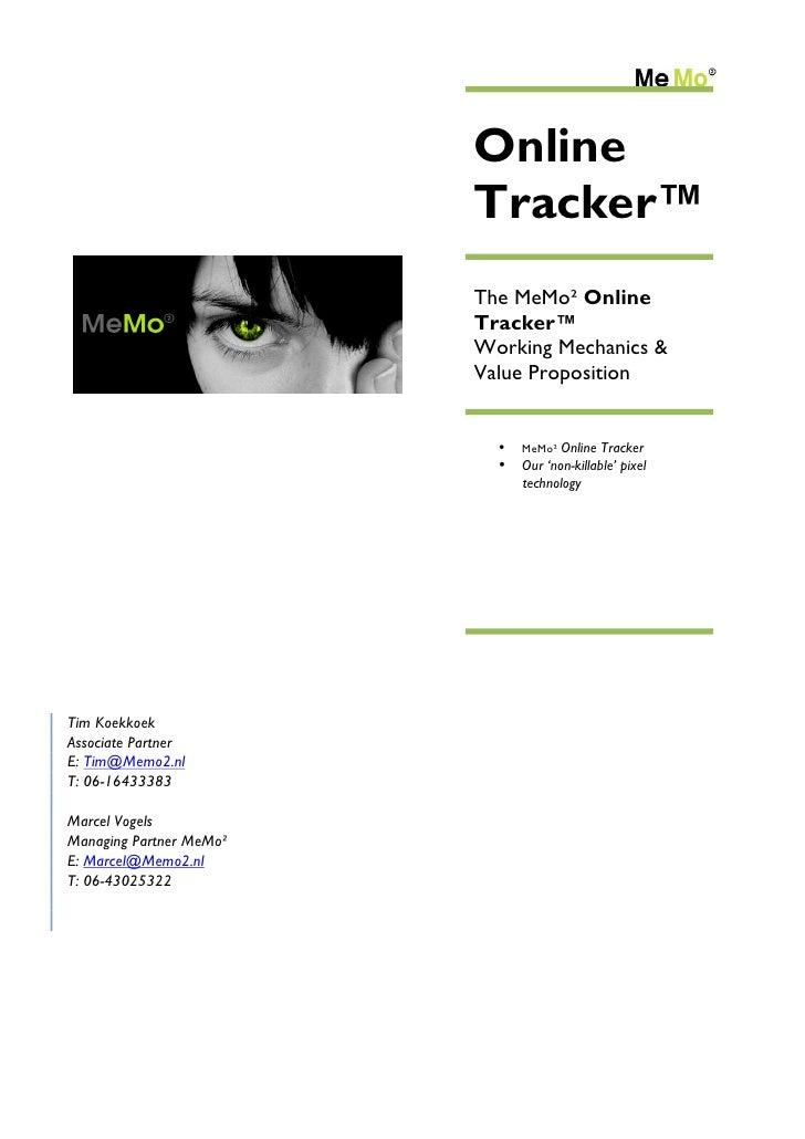100323 memo2 online tracker_productsheet_english_v1