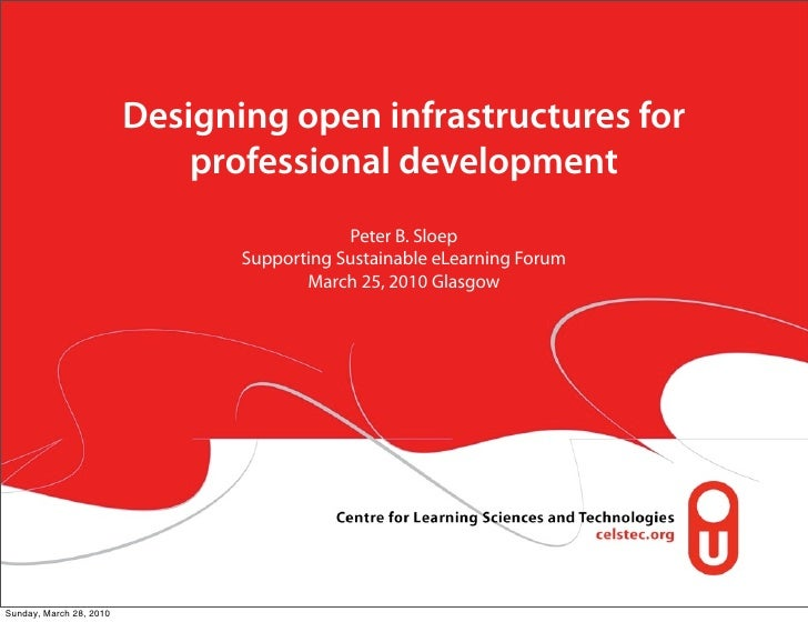 Designing open infrastructures for                              professional development                                  ...