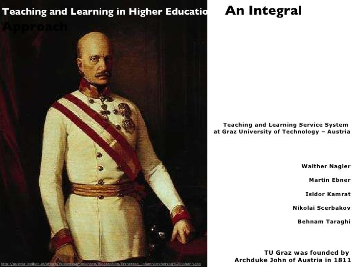 Teaching and Learning in Higher Education - An Integral Approach
