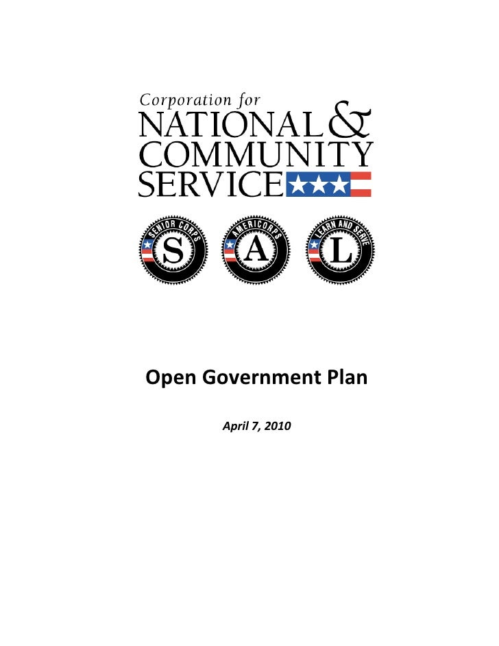 Open Government Plan                      April...