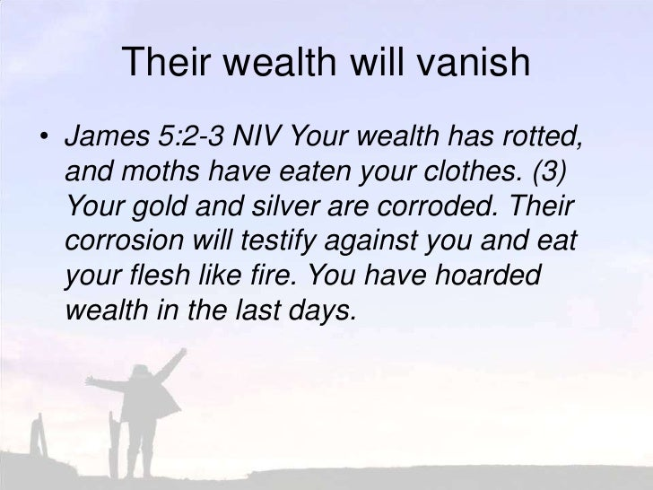 100411 How To Live Your Faith 16 Money Talks James 5 1 6 Put Your Hope In God