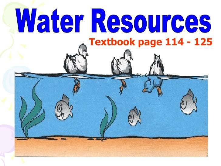Water Resources Textbook page 114 - 125