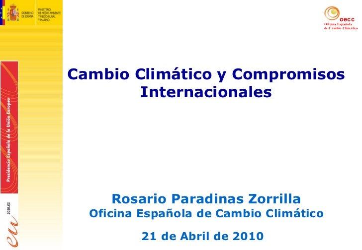 Cambio clim tico y compromisos internacionales - Oficina espanola de cambio climatico ...