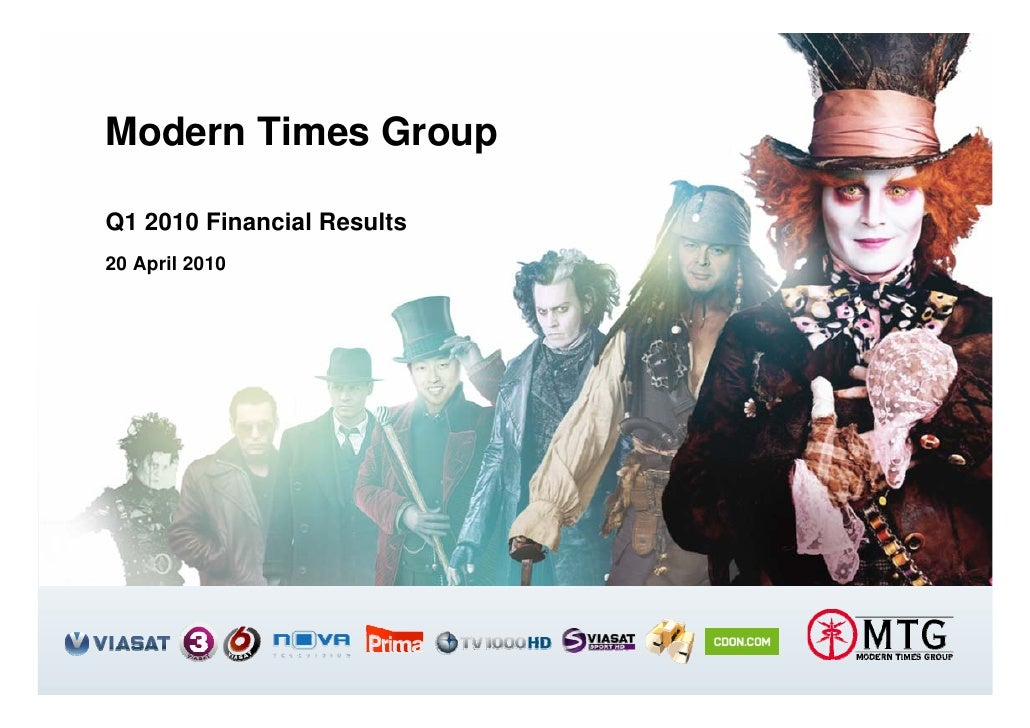 Modern Times Group  Q1 2010 Financial Results 20 April 2010