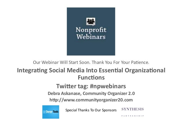 integrating social media into essential organizational functions