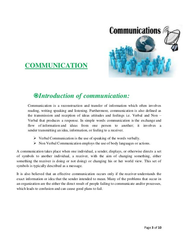 Assignment on communication