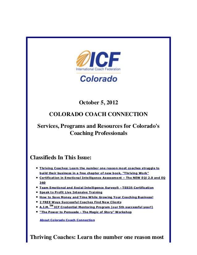 October 5, 2012: Colorado Coach Connection