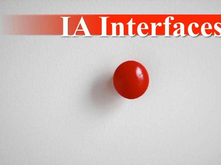IA 6: Patterns for Effective Interaction Design. Jenifer Tidwell