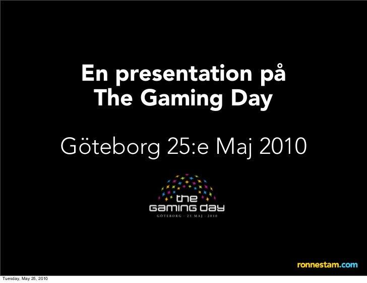 Johan Ronnestam på The Gaming Day i Göteborg
