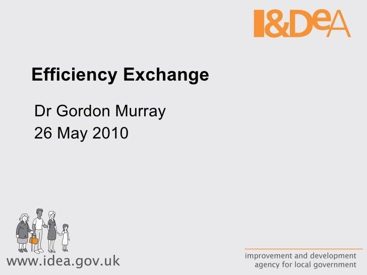 Efficiency Exchange  Dr Gordon Murray 26 May 2010