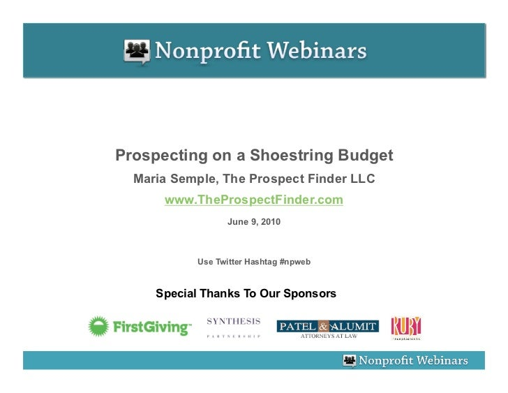 Prospecting On A Shoestring Budget