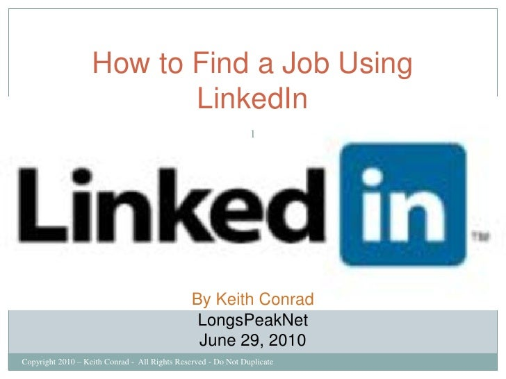 How to Find a Job Using                           LinkedIn                                                                ...