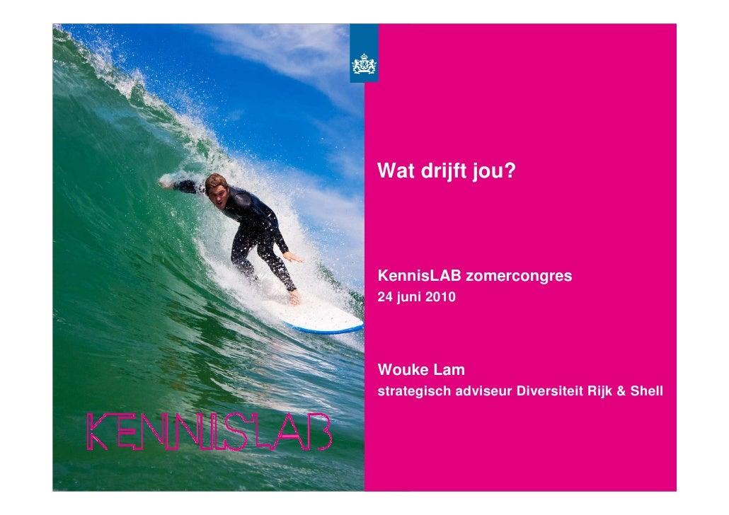 Surf's Up jou?       Wat drijft          KennisLAB zomercongres       24 juni 2010           Wouke Lam       strategisch a...