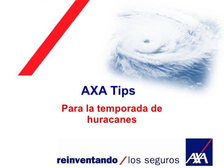AXA Tips Para la temporada de huracanes