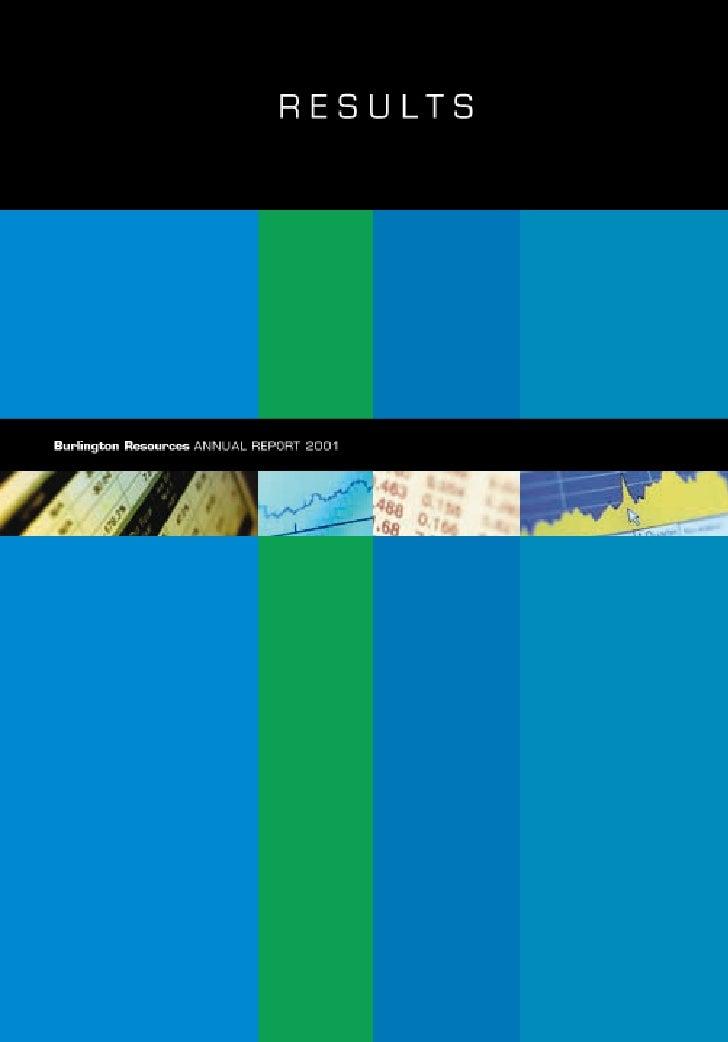 conoco phillips 2001 Annual Report