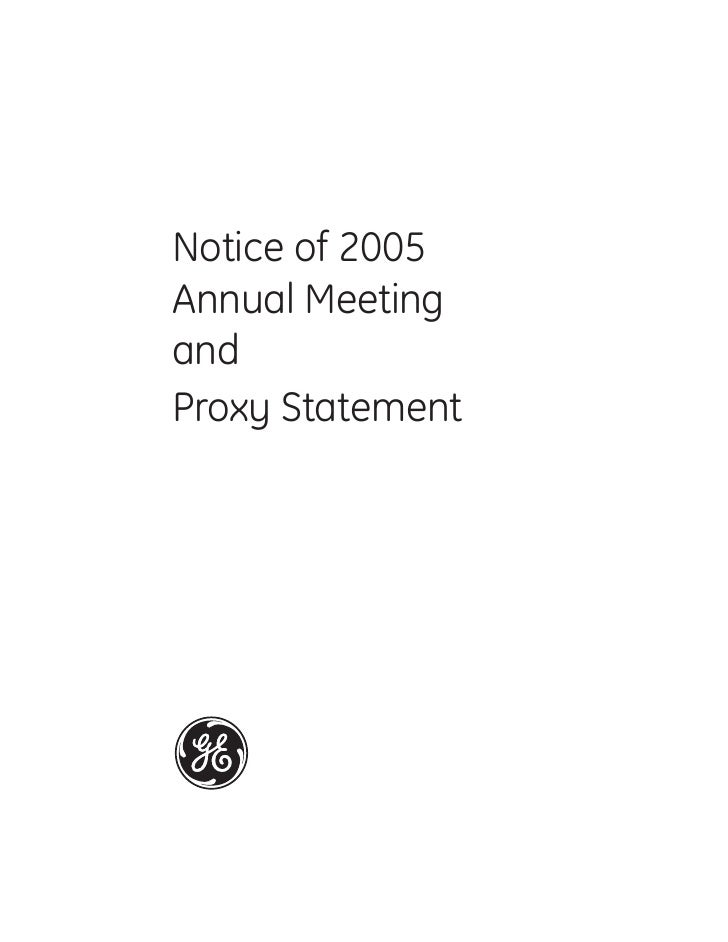 Notice of 2005 Annual Meeting and Proxy Statement