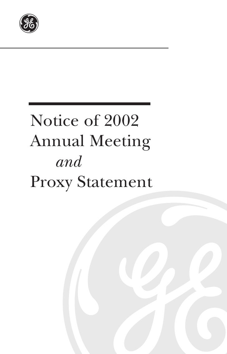 GE# 2002 Proxy Statement